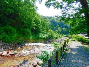 孫六温泉:*じっくりと温泉を満喫したあとは、川沿いをゆっくり散策するのもおすすめです。