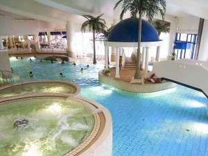 シャトレーゼ ガトーキングダムサッポロ ホテル&スパリゾート:悪天候でも安心して遊べる屋内ジャンボプール