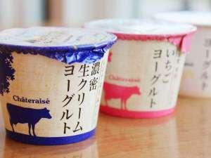 シャトレーゼ ガトーキングダムサッポロ ホテル&スパリゾート:朝食ビュッフェでは「シャトレーゼ」のヨーグルトやアイスクリームもご用意しております。