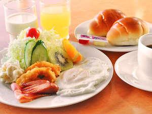 ホテル ニューチコウ:【朝食】洋朝食の一例です。※ご予約状況によりバイキングで提供となる場合あり