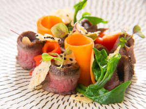 サリーガーデンの宿 湯治 柳屋:夕食は梯シェフによる「鉄輪 イタリアン」を心ゆくまでお楽しみ頂きます。