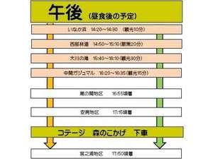 やくざる号 屋久島観光周遊バス午後の予定