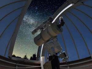 久住高原 銀河のやど きのこII世号:★天体観測★自慢の専用天体望遠鏡を覗いて、肉眼では見えない細やかな星や星座をチェック♪