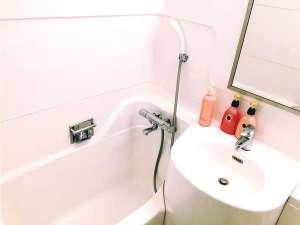 こじんまりとしながらも清掃の行き届いた清潔なバスルーム