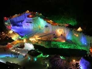 7階大浴場、山荘レストラン、一部お部屋から層雲峡氷瀑まつり会場が楽しめます☆