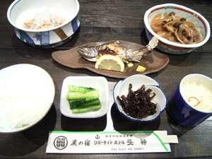 炭の宿 リバーサイドホテル昼神:川魚の塩焼きは、水のきれいな信州の魅力の一つ。(一例)