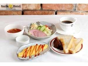 スマイルホテル博多:日替り朝食セットメニュー【洋食】バランスの良いメニューで一日始まりをサポート☆