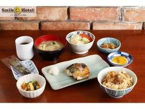 スマイルホテル博多:日替り朝食セットメニュー【和食】バランスの良い食事で一日の始まりをサポート☆