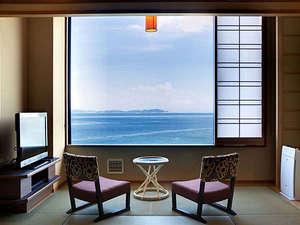 渚の荘 花季:すべての客室から穏やかな紀淡海峡を一望する事が出来ます