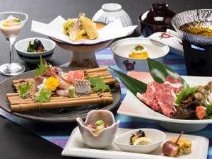 ホテル箱根パウエル:【国産牛しゃぶしゃぶ&地魚料理】お料理一例(イメージ)-