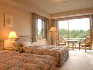 ホテル箱根パウエル:【アネックス棟】洋室ツイン。セミダブルベッド2台が安眠をお約束、収納式ベッドもあり定員3名*