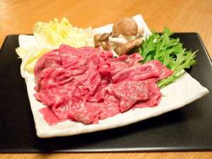 飛騨牛料理 おやど螢:しゃぶしゃぶ、すき焼きも厳選飛騨牛200g!