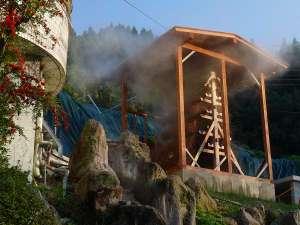 夢の国星の国みるき~すぱサンビレッヂ:湯雨竹(ゆめたけ)、自然温度調節で源泉100%の掛け流し温泉が可能となりました。