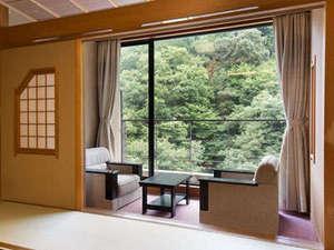 6つの露天風呂の宿 ホテルおがわ:椅子に座って寛げるスペースも