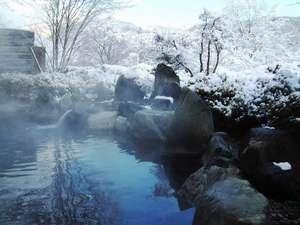 渡り温泉 別邸楓:冬景色を楽しむ絶景の露天風呂。