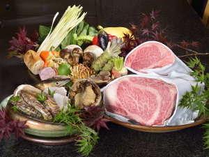 最上階 鉄板焼【備彩】の新鮮な食材