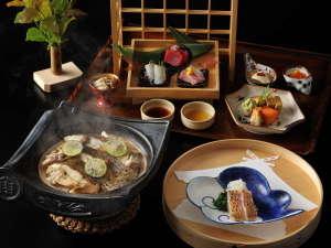 【基本会席】夕食は旬の食材をふんだんに取り入れた和会席