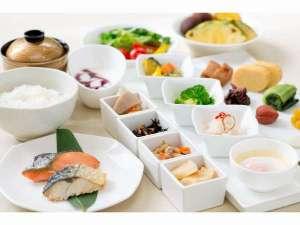 ホテル ニュ-ヒロデン:朝食バイキング ~和食盛り合わせ一例~