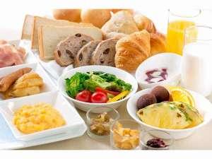 ホテル ニュ-ヒロデン:朝食バイキング ~洋食盛り合わせ一例~