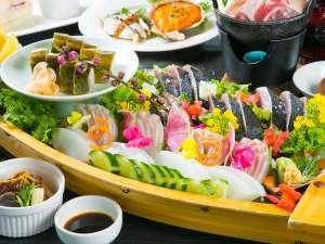 リゾートホテル海辺の果樹園:会席風皿鉢料理