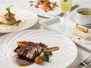 森のスパリゾート 北海道ホテル:レストランバードウォッチカフェのコース料理(一例)