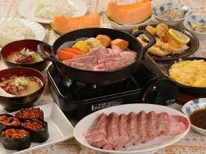 フンベHOFおおくま:北勝牛ステーキプラン夕食
