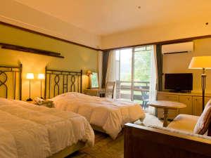 草津温泉 ホテルヴィレッジ:ベルツの森に囲まれたタワー館洋室タイプの一例(462号室・24平米)