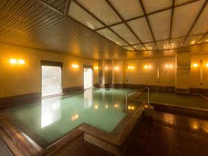 草津温泉 ホテルヴィレッジ:湯畑源泉を引く温泉大浴場「だんらん乃湯」女性浴場