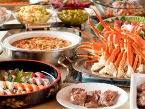 ○夕食はバイキングスタイル。好きなものを好きなだけ♪