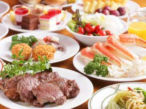 草津温泉 ホテルヴィレッジ:地元近郊の素材を活かした、和洋中50種の食べ放題バイキング。