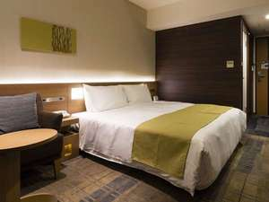 ホテルサンルート千葉:《ダブル》落ち着いた色調が魅力です。