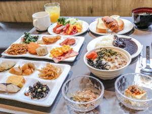 【和洋ビュッフェ朝食】盛り付け例