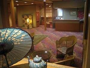 湯田中温泉 石庭露天風呂の宿 俵や:ご宿泊の70%が女性のお客様、こだわりの館内は女性好みで喜ばれております..