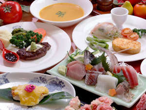 Spa & Beauty マーガレット:*マーガレットオリジナルの欧風家庭料理です。地魚お造り&伊豆牛&金目西京焼コース