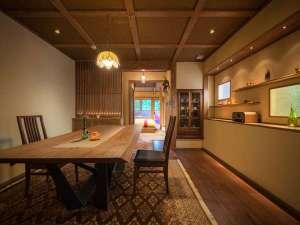 安比八幡平の食の宿 四季館 彩冬:森の別邸・226はお部屋専用ダイニング付き!ゆっくりお食事をたのしめます。