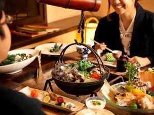 層雲峡 朝陽亭:北番屋での個室でお食事を楽しむ(イメージ)