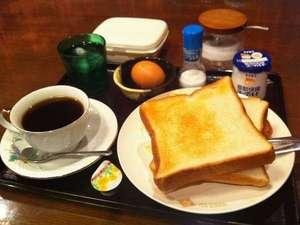 ビジネスホテルルピナス:おかあさんの手作り洋朝食♪朝ごはんはチェックインの際に和食か洋食をお選びください。