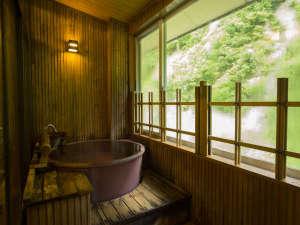 四季彩の宿 ふる里:緑が眩しい!【半露天風呂付客室】