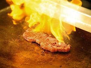 大江戸温泉物語 城崎温泉 きのさき:ライブキッチンのステーキ