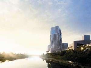 帝国ホテル大阪:JR桜の宮駅⇔ホテルをつなぐ橋の上からは大阪城の姿も♪
