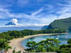 みはまビーチと富士山