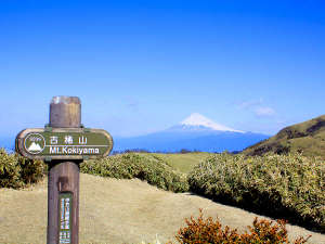 古稀山から望む美しい富士山