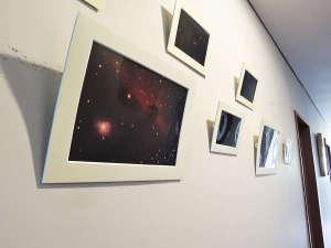 *【施設/廊下】施設内にはオーナーが撮影した星空の写真を飾っています。是非ご覧ください。