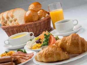 無料朝食。洋食セット例