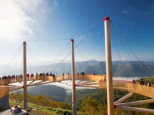 星野リゾート トマム ザ・タワー:<雲海テラス>Cloud Walk(2015年9月誕生)