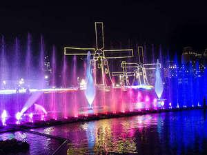 新登場!日本最大光の噴水ショー【ウォーターマジック】フラワーロードすぐ