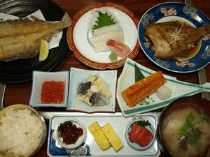 漁師の宿富丸 :朝食の一例です