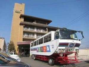 【団体様をお迎えに】水陸両用バスです。子供が大興奮しますよ!