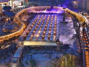 草津温泉 喜びの宿 高松:湯畑のライトアップ