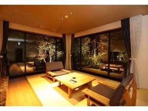 奥八女別邸やべのもり:タイプG【釈迦岳】定員2名の客室です。最大3名までご宿泊いただけます。広々73㎡